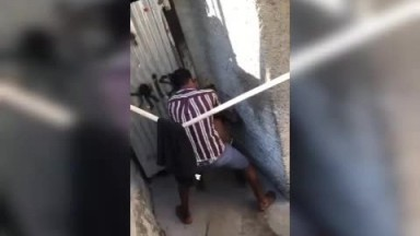 Nigeria guy fucks prostitute right behind the kitchen