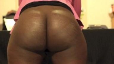Black wife belted