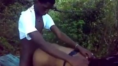 Kenyan teen having a good time with village mature